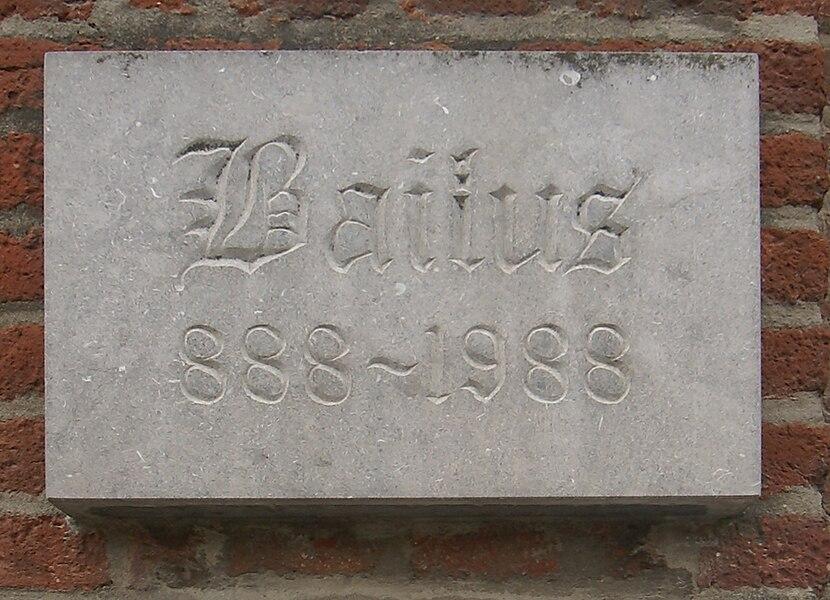 Baelen (Belgium): Town Hall, detail