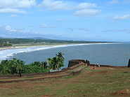 Bakel beach from fort
