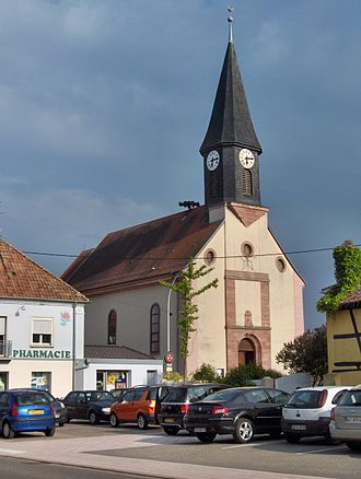 Baldersheim - Church of St. Peter and St. Paul in Baldersheim, France