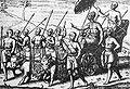 Balinese king in Houtman Verhael vande Reyse Naer Oost Indien 1597.jpg