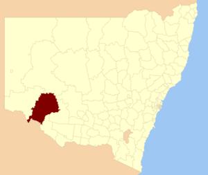 Balranald Shire - location in NSW