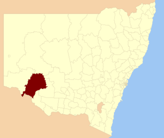 Balranald Shire - location in NSW