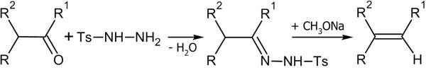 Синтез алкенов из толилгидразонов