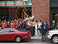 Band of the Hour outside AT&T Park before 2008 Emerald Bowl 1.JPG