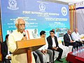 Bandaru Dattatreya addressing the gathering at the valedictory function of the 1st National Law Exhibition and Book fair on the occasion of the Centenary celebrations of Osmania University, in Hyderabad.jpg