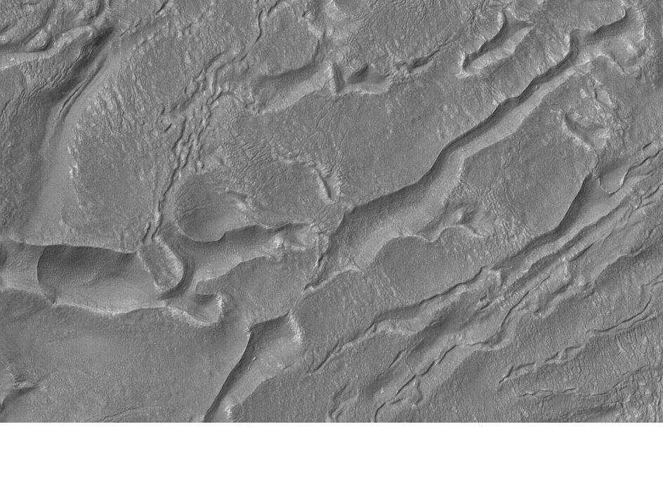Banded terrain in Hellas