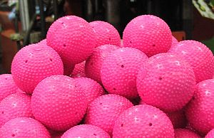 Bandy ball - Bandy balls are often cerise coloured.