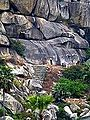Barabar Caves - Staircase and Cave Entrance (9224886169).jpg