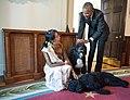 Barack Obama, Aung San Suu Kyi with pets Bo and Sunny.jpg