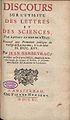Barbeyrac, Jean – Discours sur l'utilité des lettres et des sciences, par rapport au bien de l'Etat, 1715 – BEIC 609835.jpg