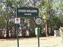 Evonne Goolagong Park in Barellan, the home town of the dual Wimbledon champion.