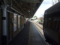 Barking station platform 1 look west.JPG