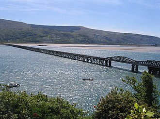 Barmouth Bridge - View of the bridge from Barmouth