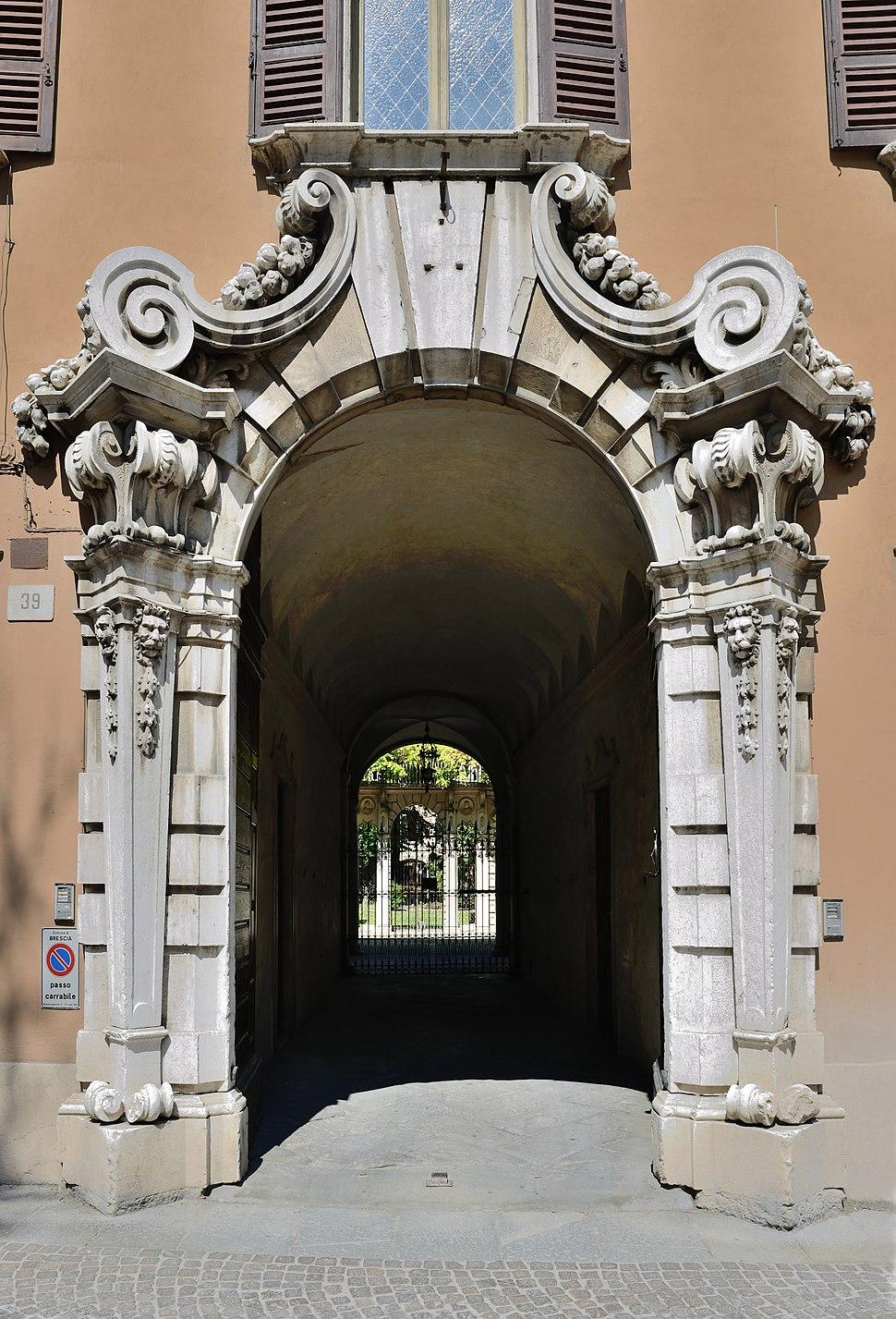 Baroque portal in Brescia
