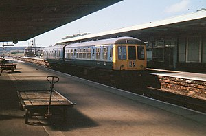 Furness line - A diesel multiple unit at Barrow in Furness station