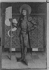 Unbekannter Ritterheiliger (Abgespaltene Rückseite siehe WAF 1209) (Werkstatt)