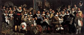Bartholomeus van der Helst - Celebration of the Peace of Münster, 1648, at the Crossbowmen's Headquarters - WGA11339.jpg