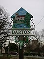 Barton Village Sign, west side - geograph.org.uk - 705425.jpg