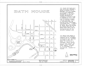Bath House, Spring Street, White Springs, Hamilton County, FL HABS FLA,24-WHISP,1- (sheet 1 of 5).png