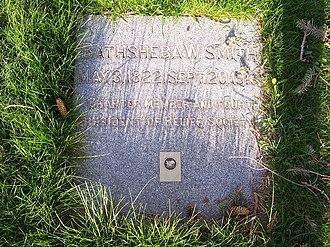 Bathsheba W. Smith - Image: Bathsheba W Smith Grave