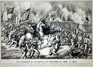 Battle of Seven Pines - General Thomas Francis Meagher at the Battle of Fair Oaks, June 1, 1862