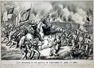 Peninsula Campaign - Brig. Gen. Thomas Francis Meagher at the Battle of Fair Oaks, June 1, 1862