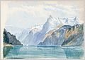 Bay of Uri, Brunnen (from Switzerland 1870 Sketchbook) MET 50.130.148l.jpg