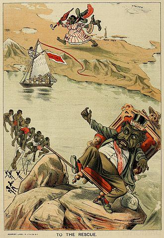 The Wasp (magazine) - Image: Bayonet Constitution political cartoon 1887