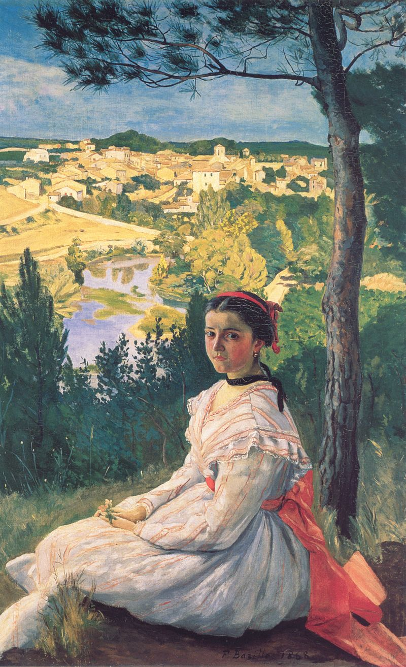 Bazille, Frédéric ~ View of the Village, 1868.jpg