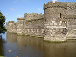 Beaumaris, circular towers and moat, 2006.jpg