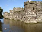 Beaumaris, circular towers and moat, 2006.jpg