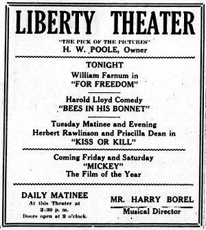 Bees in His Bonnet - A contemporary newspaper advertisement for Bees in His Bonnet and two other films.