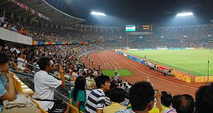 Football at the 2008 Summer Olympics - Image: Beijing Workers Stadium, August 19, 2008