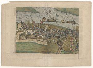 Siege of IJsseloord - Image: Belagerung von I Jsseloord 1585