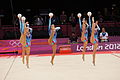 Belarus Rhythmic gymnastics team 2012 Summer Olympics 03.jpg