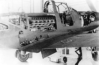 Bell P-39 Airacobra - Bell P-39 Airacobra center fuselage detail with maintenance panels open.