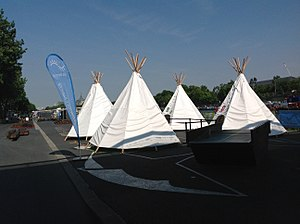 Promenade des Berges de la Seine - Tipis located along the Promenade des Berges de la Seine.  They can be reserved for meetings or celebrations.