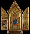 Bernardo Daddi Triptych, The Virgin and Child Enthroned with Saints, 1338 open.jpg