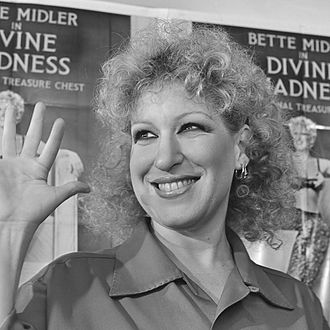 Bette Midler - 1981, in Amsterdam promoting the film Divine Madness (1980)