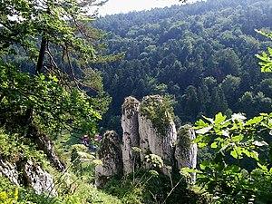 Ojców National Park - Skała Biała Ręka (the White Hand rock)