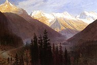 Bierstadt Albert Sunrise at Glacier Station.jpg