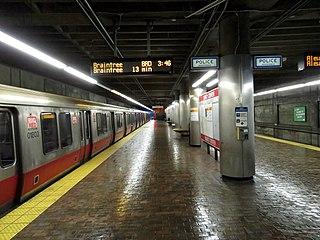 Quincy Center station Boston MBTA subway station