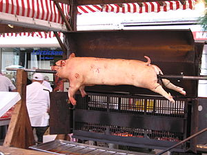 Pig roast, Wittlich, Germany