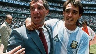 Carlos Bilardo - Bilardo with Pedro Pasculli in México 1986.