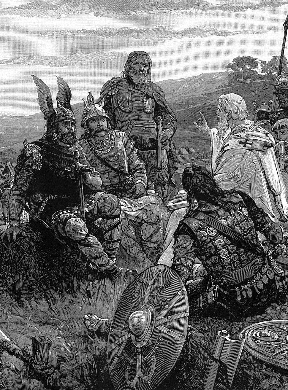 Bischof Ulfilas erklärt den Goten das Evangelium