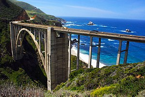 Bixby Creek Bridge - Bixby Creek Bridge from the northeast