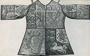 Private Officer of Arms - The tabard of Blanc Coursier Herald John Anstis created in 1727.