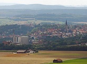 Warburg - Warburg as seen from the Desenberg