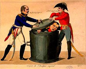 English: Blucher Wellington and Napoleon's def...