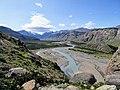 Blue River of valley of the rio de las vueltas Fitz Roy Trail Parque Nacional Los Glaciares El Chalten Argentina.jpg